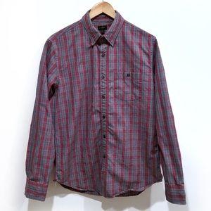 J.Crew Jaspé cotton button shirt red gray plaid